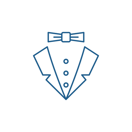 Male style line concept icon. Male style flat  vector website sign, outline symbol, illustration.