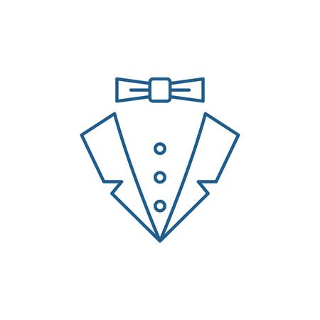 Symbol für das Konzept der männlichen Stillinie. Flaches Vektor-Website-Zeichen im männlichen Stil, Umrisssymbol, Illustration.