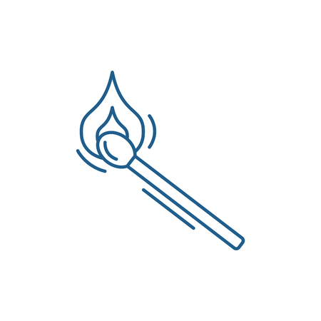 Match line concept icon. Match flat  vector website sign, outline symbol, illustration.