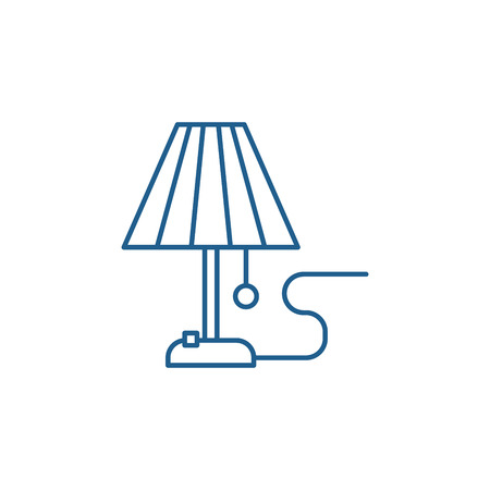 Lamp line concept icon. Lamp flat  vector website sign, outline symbol, illustration.