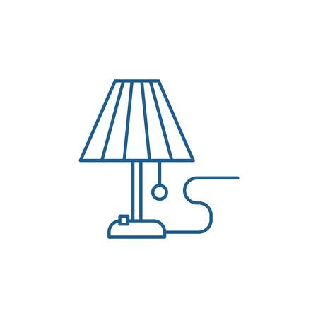 Lamp line concept icon. Lamp flat  vector website sign, outline symbol, illustration.