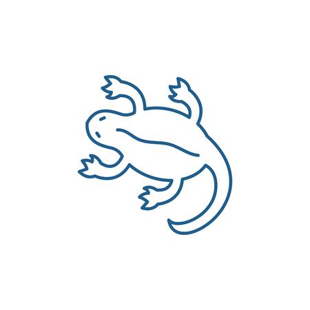 Lizard line concept icon. Lizard flat  vector website sign, outline symbol, illustration.