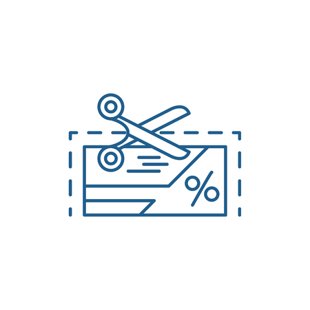 Loyalty program line concept icon. Loyalty program flat  vector website sign, outline symbol, illustration.