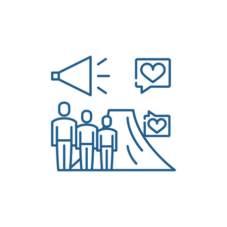 Ltv line concept icon. Ltv flat  vector website sign, outline symbol, illustration.