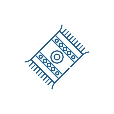Mat line concept icon. Mat flat  vector website sign, outline symbol, illustration.