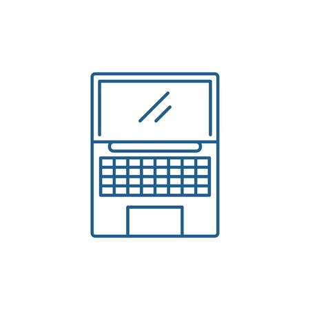 Netbook line concept icon. Netbook flat  vector website sign, outline symbol, illustration.