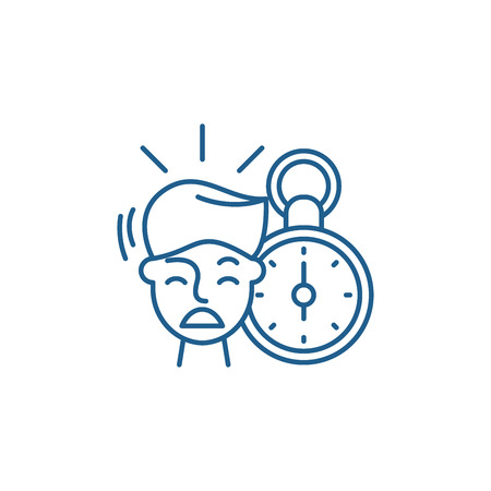 No time line concept icon. No time flat  vector website sign, outline symbol, illustration.