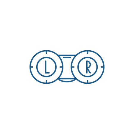 Ophthalmology line concept icon. Ophthalmology flat  vector website sign, outline symbol, illustration.