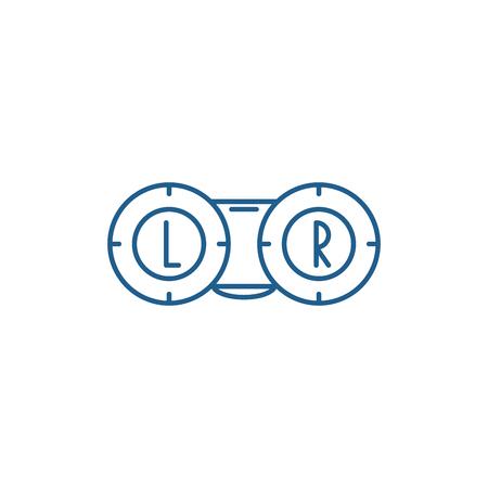 Ophthalmology line concept icon. Ophthalmology flat  vector website sign, outline symbol, illustration.