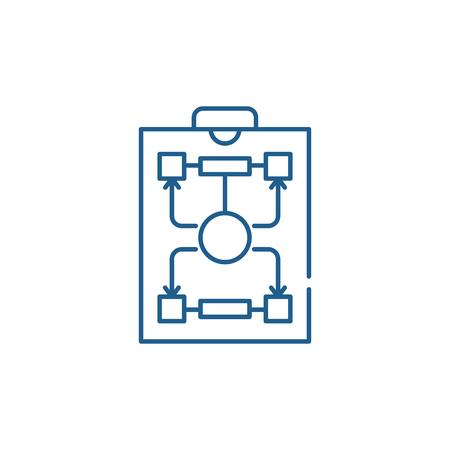 Organizational structure line concept icon. Organizational structure flat  vector website sign, outline symbol, illustration.