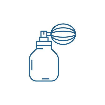 Perfume line concept icon. Perfume flat  vector website sign, outline symbol, illustration. Ilustração