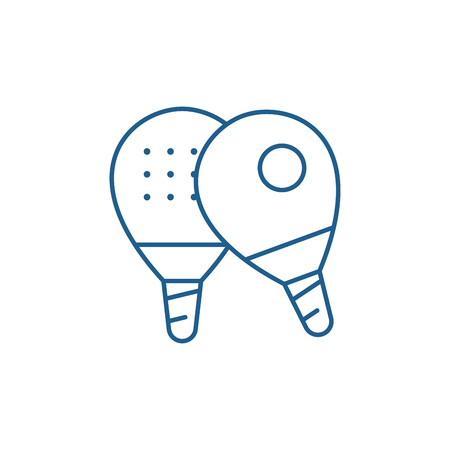 Table tennis line concept icon. Table tennis flat  vector website sign, outline symbol, illustration.