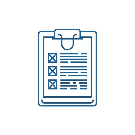 Symbol für das Konzept der Umfragelinie. Flaches Vektor-Website-Zeichen der Umfrage, Umrisssymbol, Illustration. Vektorgrafik