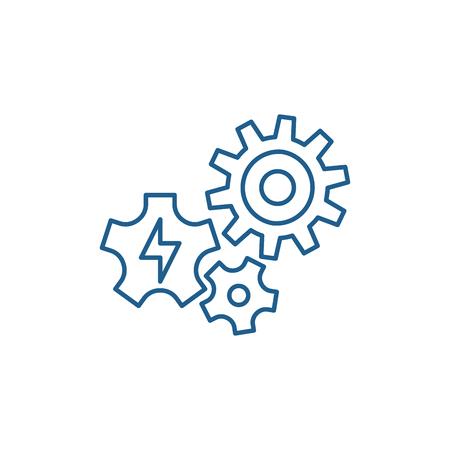 Power supply line concept icon. Power supply flat  vector website sign, outline symbol, illustration. Illustration