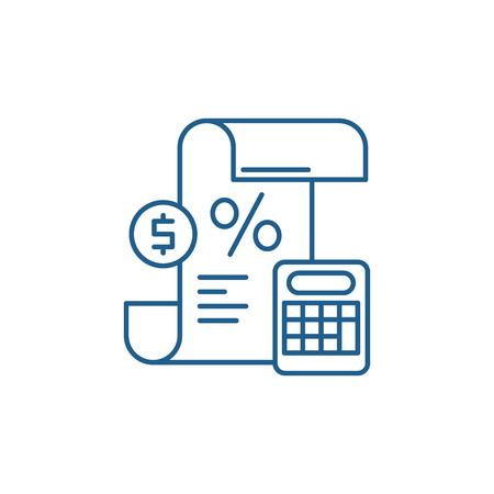 Profit and loss statement line concept icon. Profit and loss statement flat  vector website sign, outline symbol, illustration. Illustration