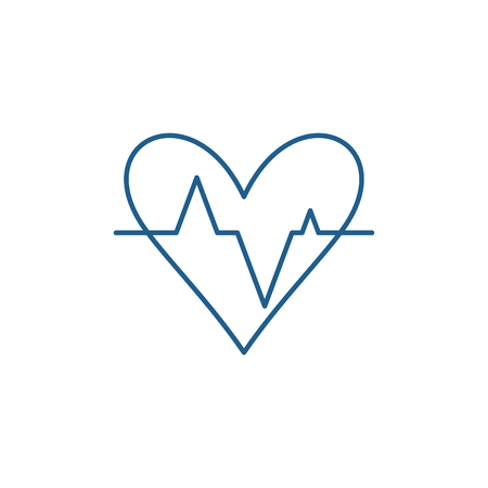 Pulse line concept icon. Pulse flat  vector website sign, outline symbol, illustration. Illustration