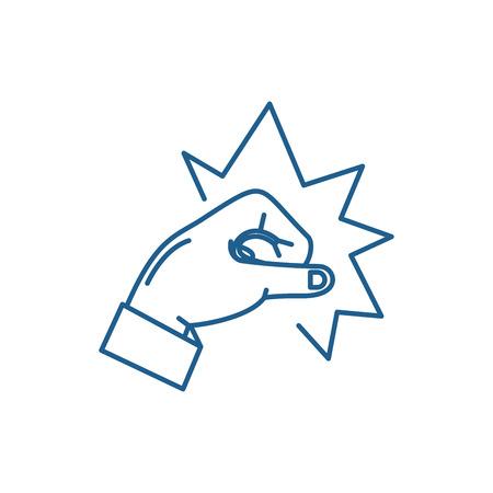 Punch line concept icon. Punch flat  vector website sign, outline symbol, illustration. Illustration