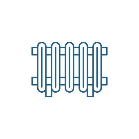 Radiator line concept icon. Radiator flat  vector website sign, outline symbol, illustration. Illustration