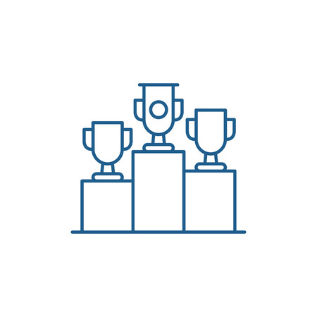 Raffle prizes line concept icon. Raffle prizes flat  vector website sign, outline symbol, illustration.