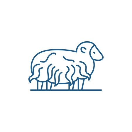 Ram line concept icon. Ram flat  vector website sign, outline symbol, illustration.