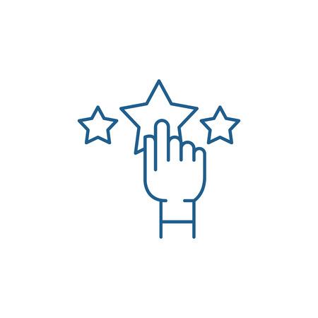 Rating line concept icon. Rating flat  vector website sign, outline symbol, illustration.