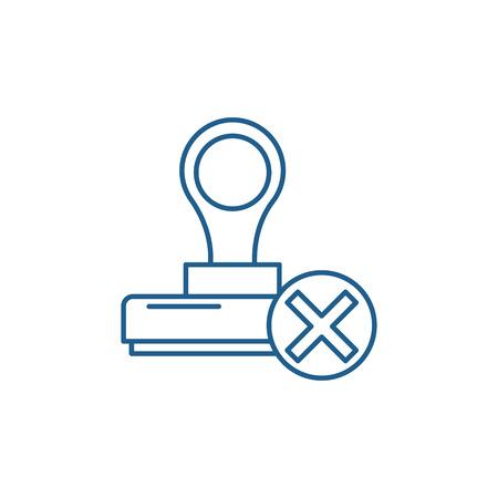 Verzicht Symbol Leitung Konzept. Verzicht auf flache Vektor-Website-Zeichen, Umrisssymbol, Illustration.
