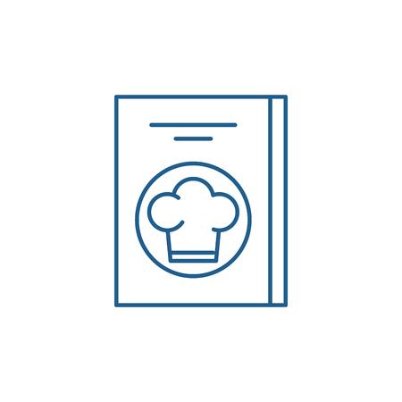 Restaurant bill line concept icon. Restaurant bill flat  vector website sign, outline symbol, illustration.