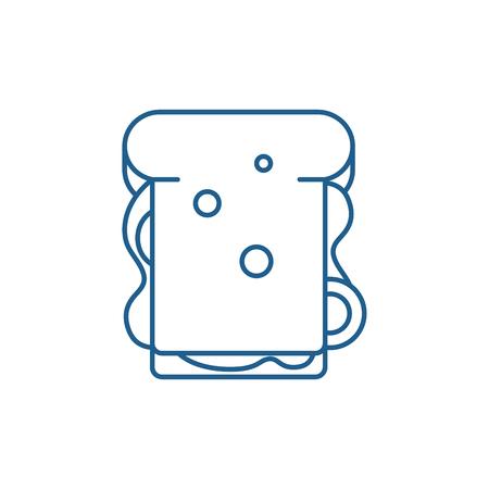 Sandwich line concept icon. Sandwich flat  vector website sign, outline symbol, illustration. Ilustração