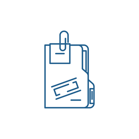 Secret archive line concept icon. Secret archive flat  vector website sign, outline symbol, illustration.