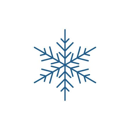 Schneeflocke-Dekor-Linien-Konzept-Symbol. Schneeflocke Dekor flaches Vektor-Website-Zeichen, Umrisssymbol, Illustration.