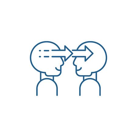 Social manipulation line concept icon. Social manipulation flat  vector website sign, outline symbol, illustration. Illustration