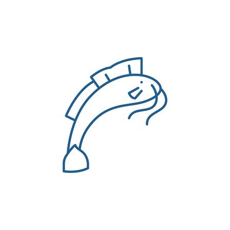Som line concept icon. Som flat  vector website sign, outline symbol, illustration.