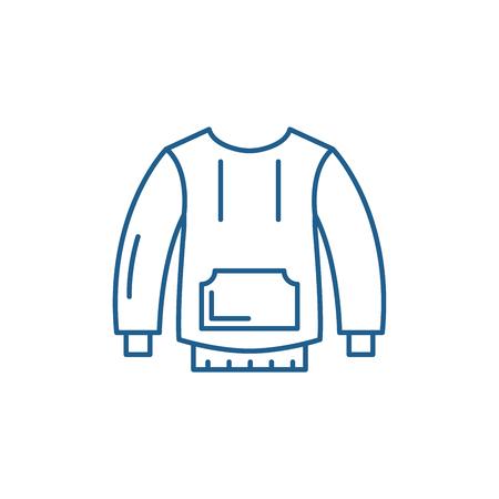 Sportswear line concept icon. Sportswear flat  vector website sign, outline symbol, illustration.