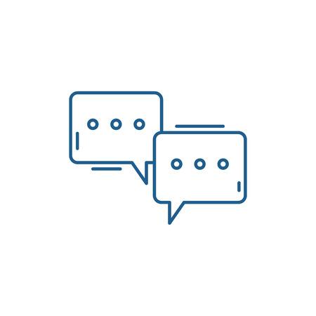 Icône de concept de ligne de colloque. Signe de site Web de vecteur plat de colloque, symbole de contour, illustration.