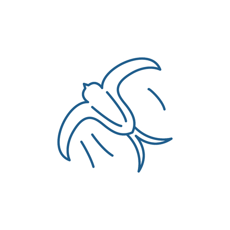 Swallow line concept icon. Swallow flat  vector website sign, outline symbol, illustration.