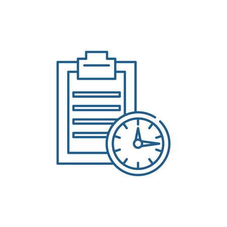 Time limit line concept icon. Time limit flat  vector website sign, outline symbol, illustration.