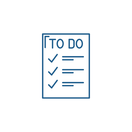 To do list line concept icon. To do list flat  vector website sign, outline symbol, illustration.