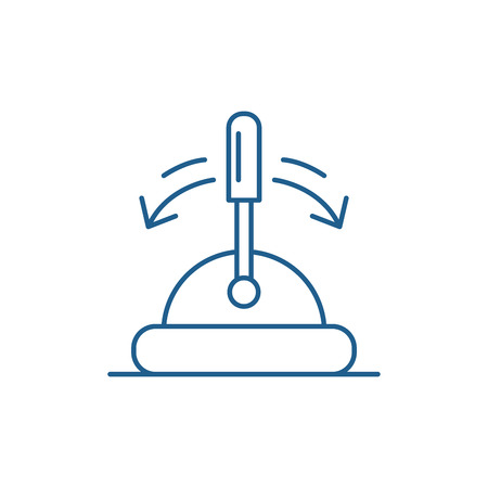Toggle switch line concept icon. Toggle switch flat  vector website sign, outline symbol, illustration.