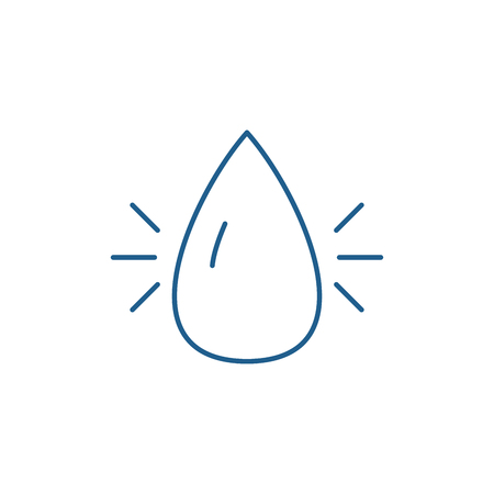 Water industry line concept icon. Water industry flat  vector website sign, outline symbol, illustration.