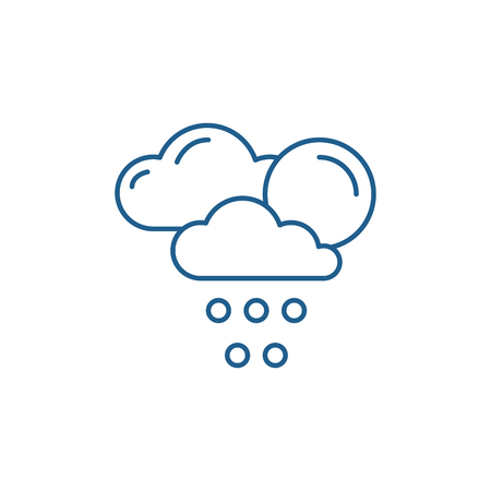Weather forecast line concept icon. Weather forecast flat  vector website sign, outline symbol, illustration.