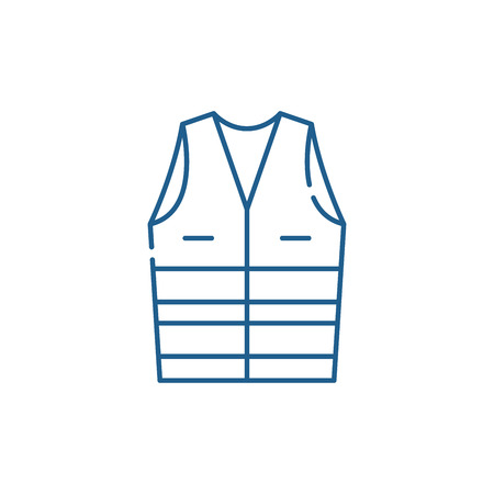 Work clothes line concept icon. Work clothes flat  vector website sign, outline symbol, illustration.