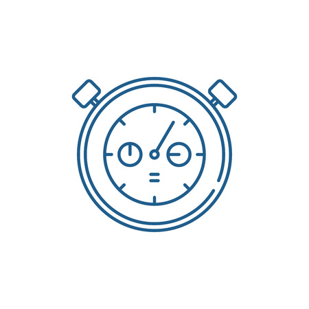 Working date line concept icon. Working date flat  vector website sign, outline symbol, illustration.