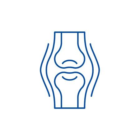 Joints line concept icon. Joints flat  vector website sign, outline symbol, illustration.