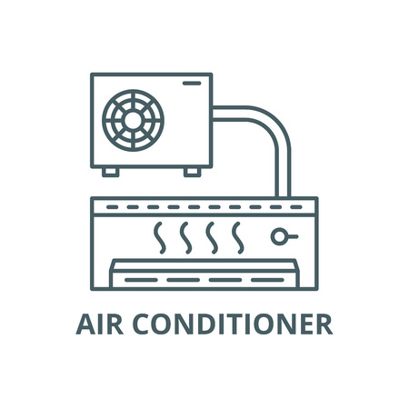 Air conditioner line icon, vector. Air conditioner outline sign, concept symbol, illustration Foto de archivo - 123789822