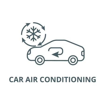 Air conditioning, car service line icon, vector. Air conditioning, car service outline sign, concept symbol, illustration