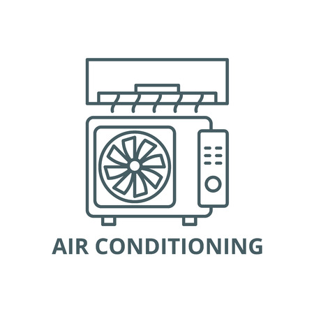 Air conditioning line icon, vector. Air conditioning outline sign, concept symbol, illustration