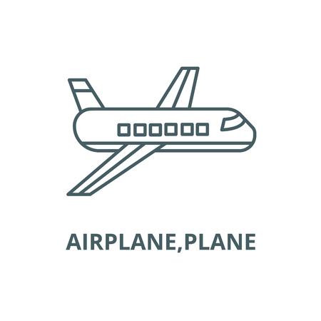 Airplane,plane line icon, vector. Airplane,plane outline sign, concept symbol, illustration