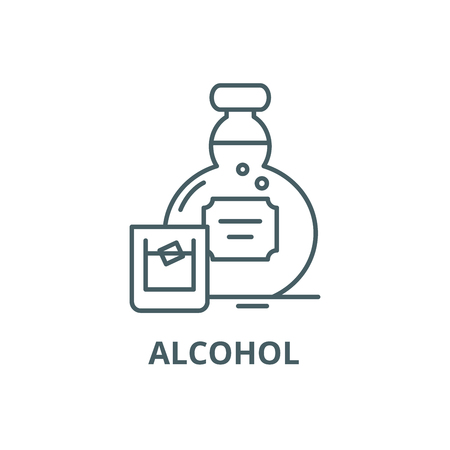 Alcohol line icon, vector. Alcohol outline sign, concept symbol, illustration