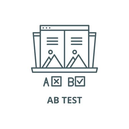 Ab test line icon, vector. Ab test outline sign, concept symbol, illustration