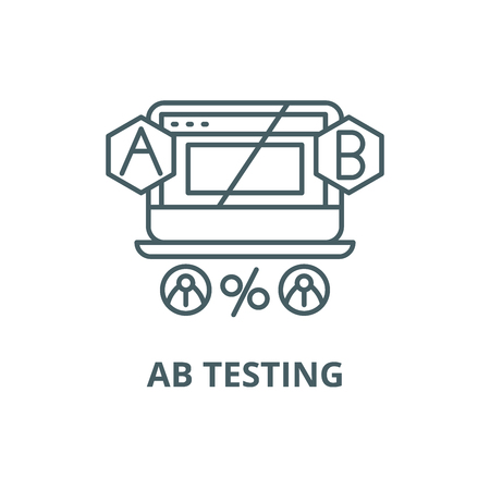 Ab testing line icon, vector. Ab testing outline sign, concept symbol, illustration Stock Vector - 120731625